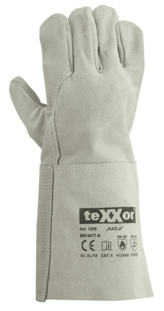 BIG-TEXXOR-Schweißer-Arbeits-Handschuhe, Katla, natur