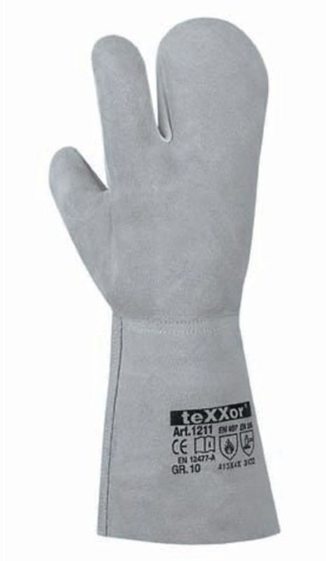 BIG-TEXXOR-3-Finger-Schweißer-Arbeits-Handschuhe, Santorin, natur