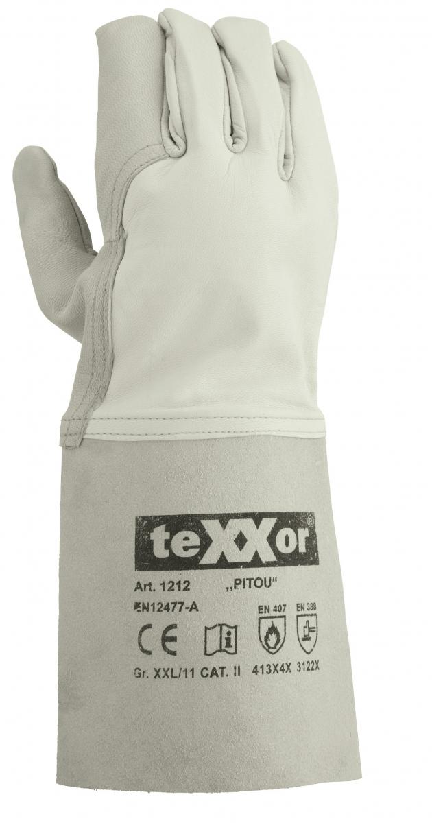 BIG-TEXXOR-Schweißer-Arbeits-Handschuhe,, Pitou, natur