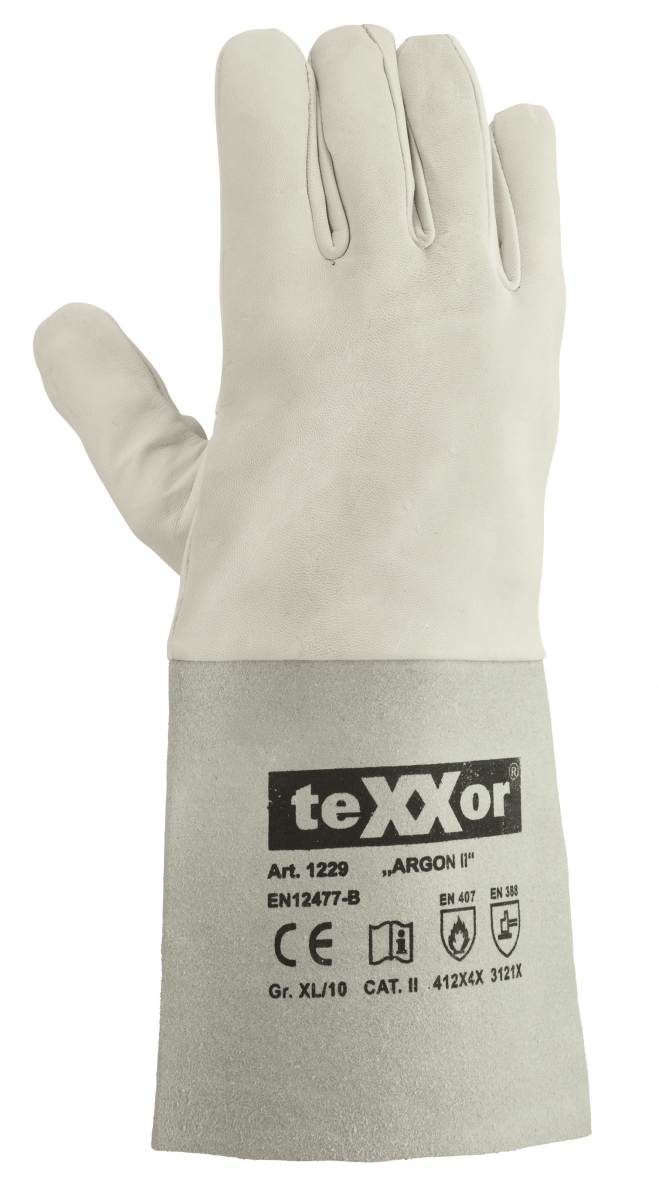 BIG-TEXXOR-Schweißer-Arbeits-Handschuhe, Argon II, natur