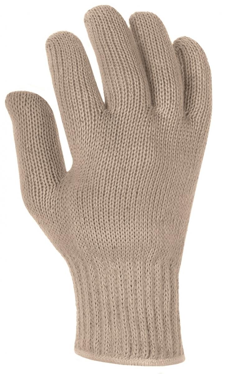 BIG-Baumwollgrobstrick-Arbeits-Handschuhe, rohweiß