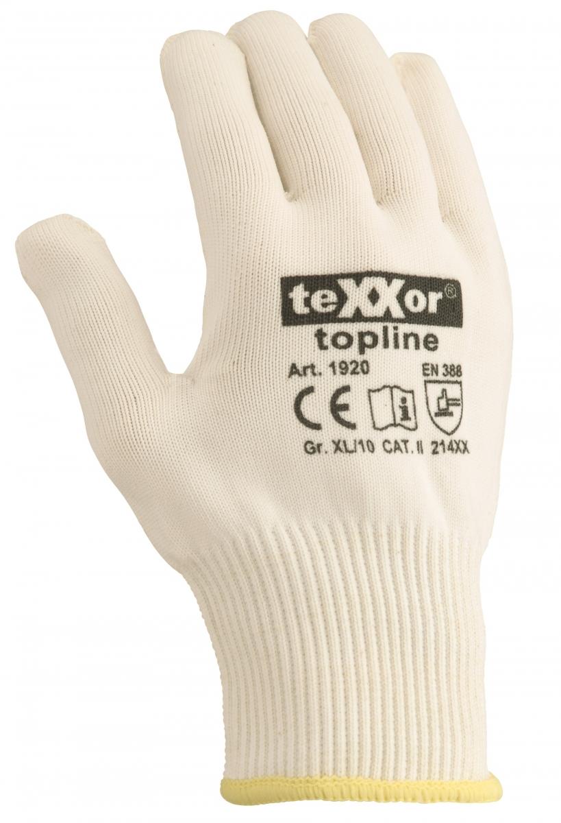 BIG-TEXXOR-Baumwoll-/Nylon-Feinstrick-Arbeits-Handschuhe, beige