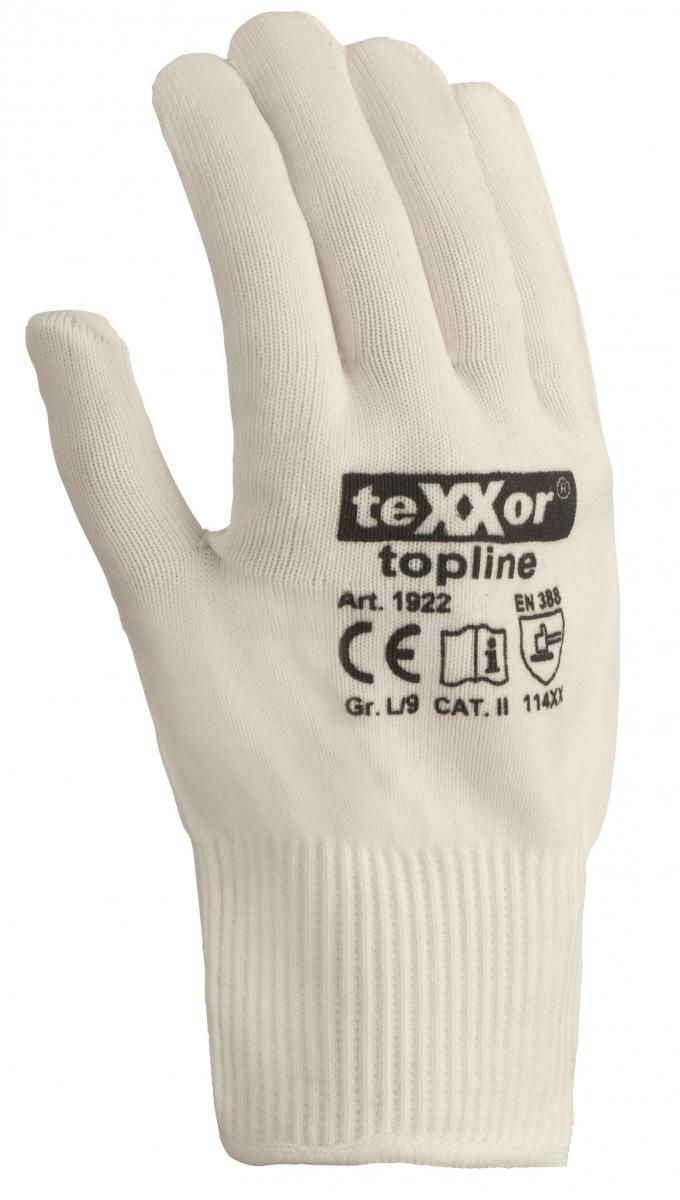 BIG-TEXXOR-Nylon-Feinstrick-Arbeits-Handschuhe, weiß