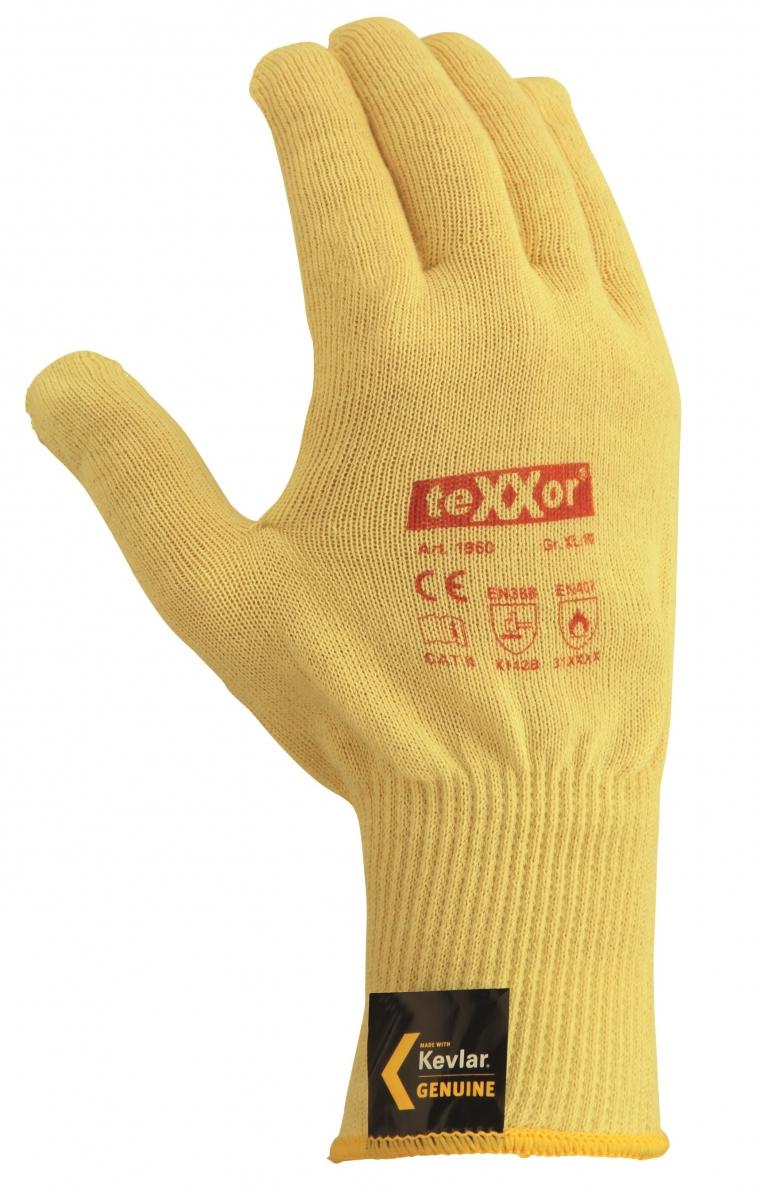 BIG-TEXXOR-Kevlar-Feinstrick-Arbeits-Handschuhe, beige