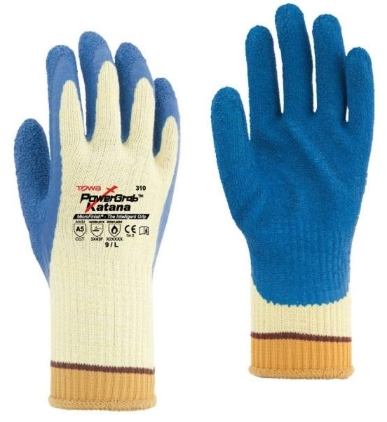 BIG-TOWA-Kevlar-Strick-Arbeits-Handschuhe, PowerGrab KEV, blau