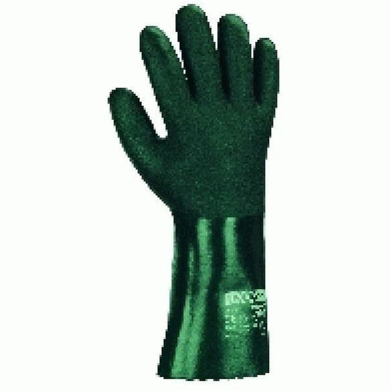 BIG-TEXXOR-Chemikalien-Schutz-Arbeits-Handschuhe, 27 cm, grün
