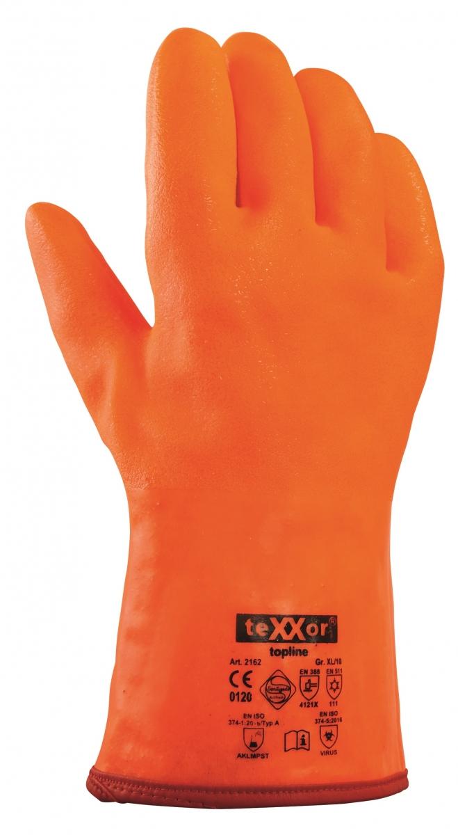 BIG-TEXXOR-PVC--Arbeits-Handschuhe, 32 cm, leuchtorange