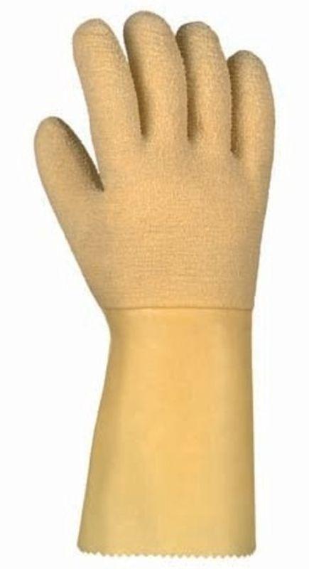 BIG-TEXXOR-Latex-Arbeits-Handschuhe, gelb