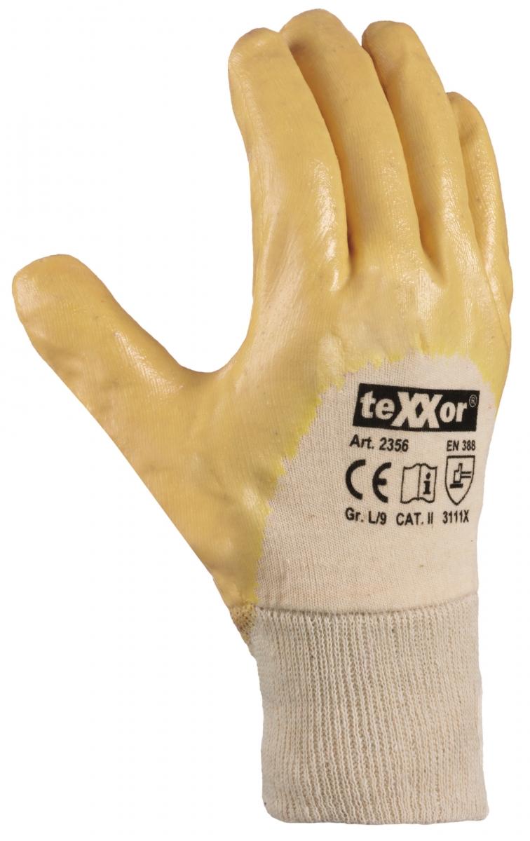 BIG-TEXXOR-Nitril-Arbeits-Handschuhe, gelb