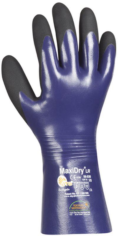 BIG-ATG-Nitril-Chemikalien-Schutz-Arbeits-Handschuhe, MaxiDry Plus, blau/schwarz