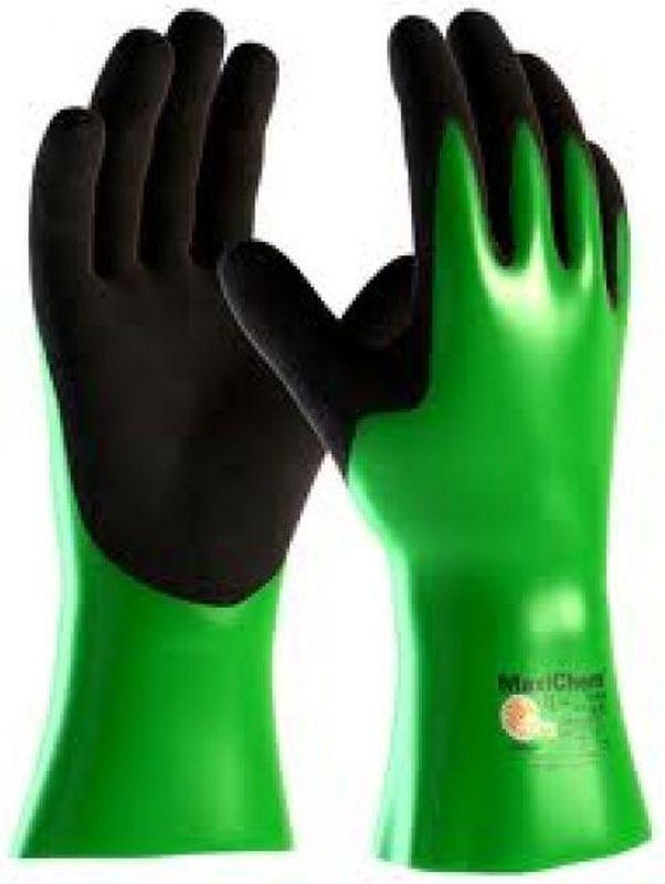 BIG-ATG-Chemikalien-Schutz-Arbeits-Handschuhe, MaxiChem, grün/schwarz