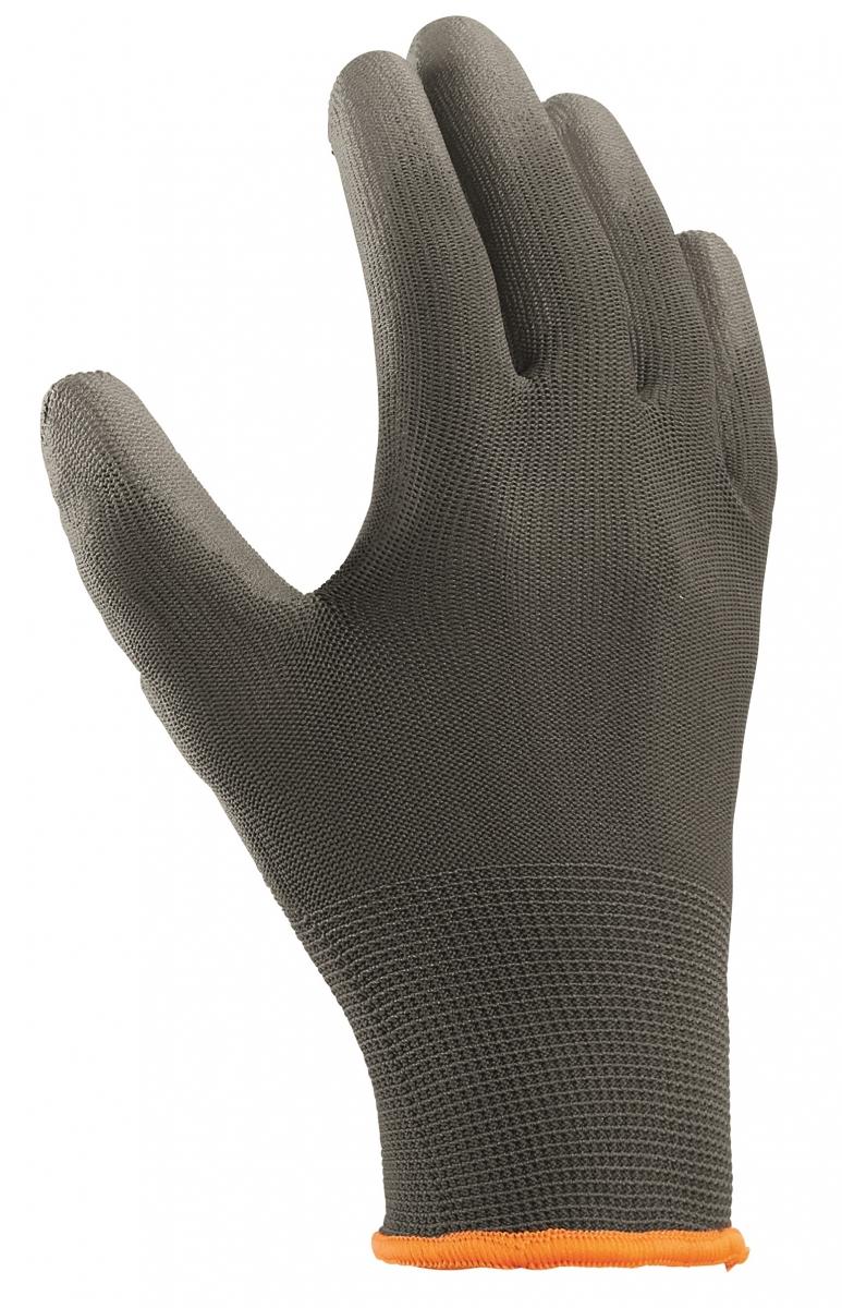 BIG-TEXXOR-Polyester-Strick-Arbeits-Handschuhe, grau