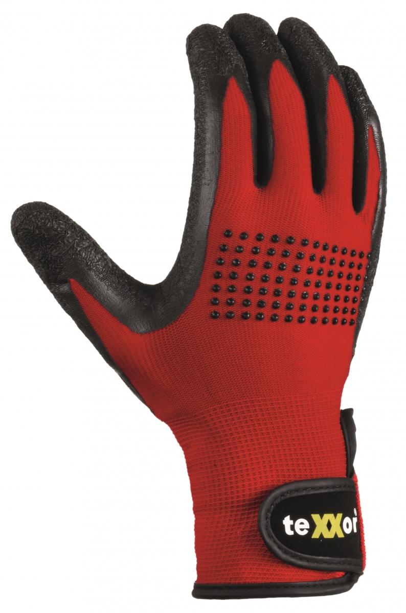 BIG-TEXXOR-Nylon-Montage-Arbeits-Handschuhe, rot/schwarz