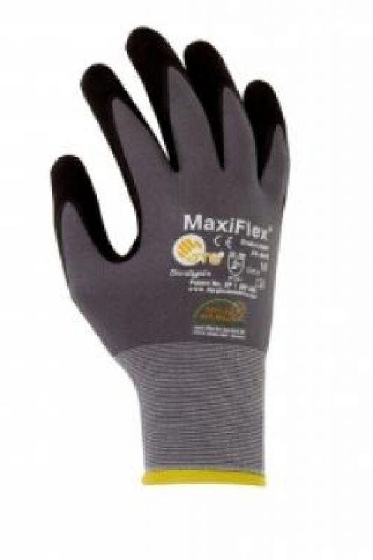 BIG-ATG-Nylon-Strick-Arbeits-Montage-Handschuhe, MaxiFlex Ultimate, grau/schwarz