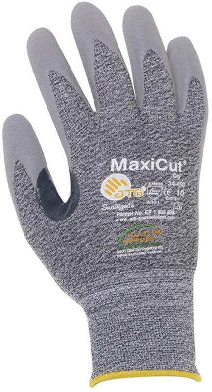 BIG-ATG-Schnittschutz-Strick-Arbeits-Handschuhe, MaxiCut, grün/grau