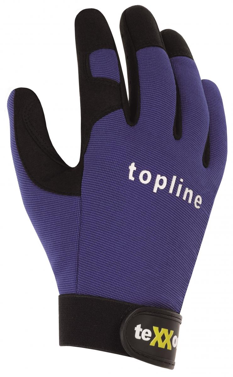BIG-TEXXOR-Kunst-Leder-Arbeits-Handschuhe, Naples, blau/schwarz