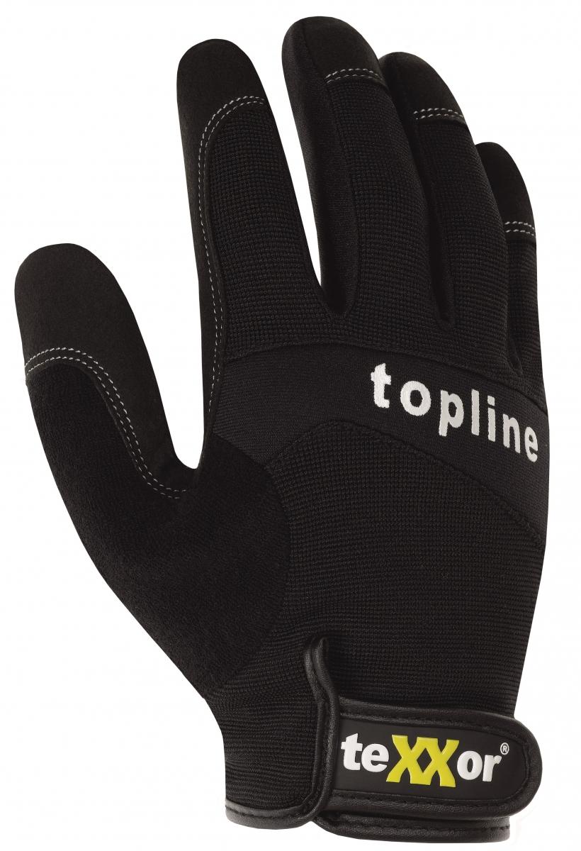 BIG-TEXXOR-Kunst-Leder-Arbeits-Handschuhe, Tucson, schwarz/grau