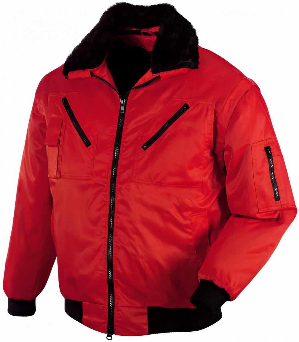 BIG-TEXXOR-Kälte-Schutz, Winter-Arbeits-Berufs-Piloten-Jacke, Oslo, rot