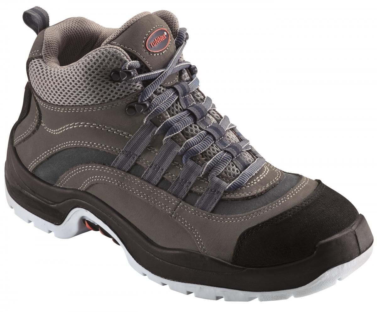 BIG-ruNNex-S2-Schnürstiefel, Sicherheits-Arbeits-Berufs-Schuhe, Hochschuhe, TeamStar, schwarz/grau/blau