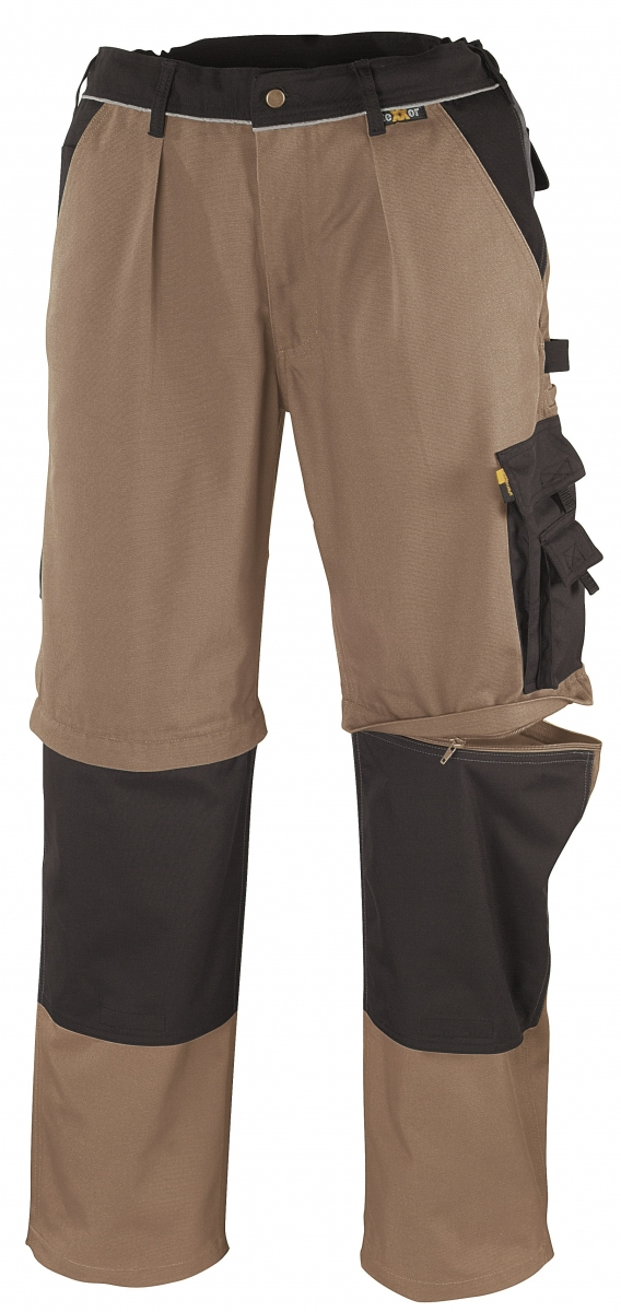 BIG-TEXXOR-Canvas-2-in-1-Bundhose, Tobago, 320g/m², khaki/schwarz