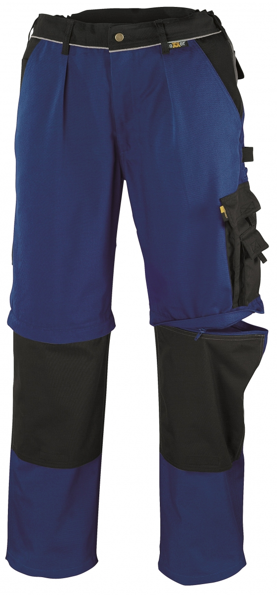BIG-TEXXOR-Canvas-2-in-1-Bundhose, Tobago, 320g/m², kornblau/schwarz