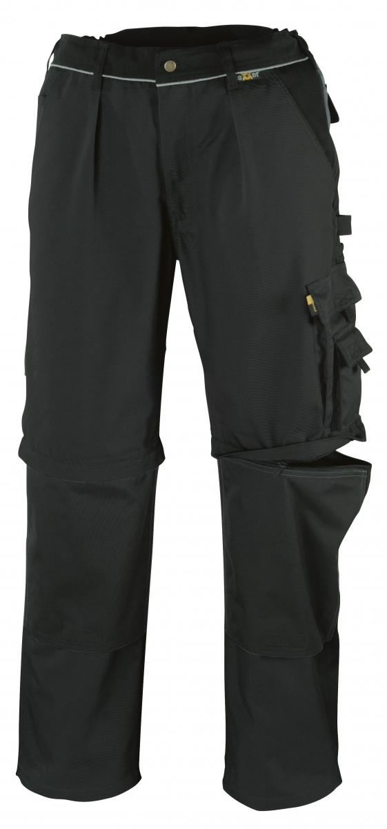BIG-TEXXOR-Canvas-2-in-1-Bundhose, Tobago, 320g/m², schwarz/schwarz