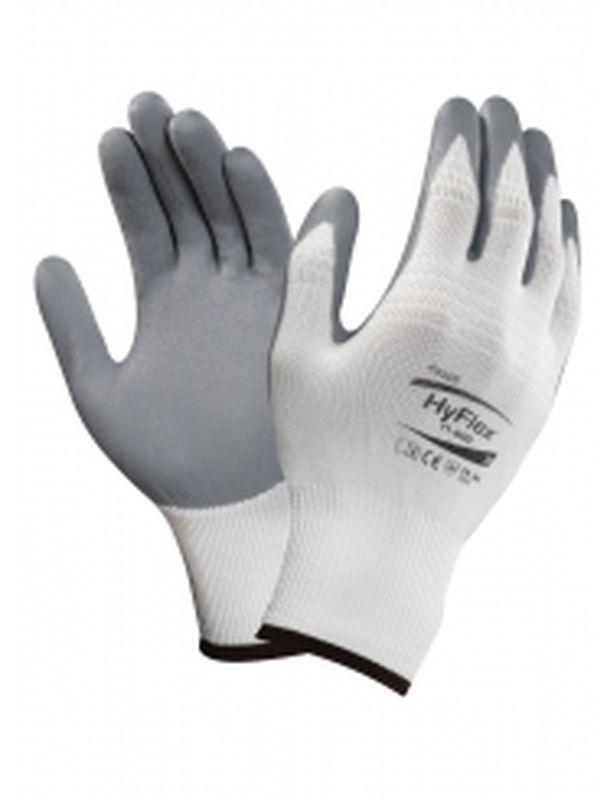 ANSELL-Nitril-Mehrzweck-Arbeits-Handschuhe, Hyflex, Weiß/Grau
