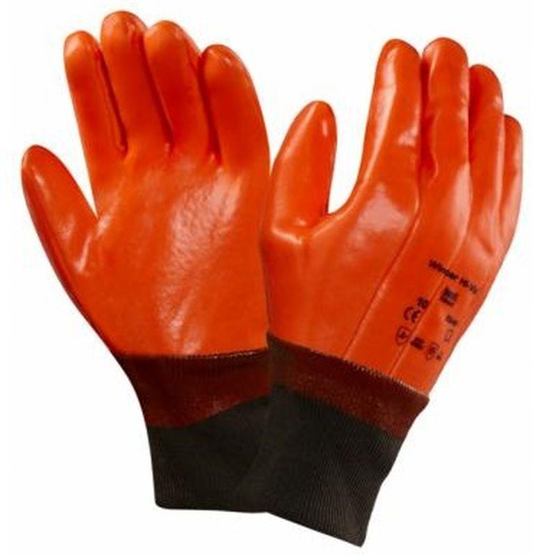 ANSELL-PVC-Spezialzweck-Arbeits-Handschuhe, Winter Hi-Viz, Signal