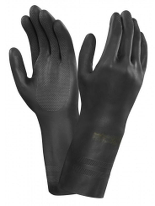 ANSELL-Neopren-Chemikalien-Schutz-Arbeits-Handschuhe, Neotop, Schw