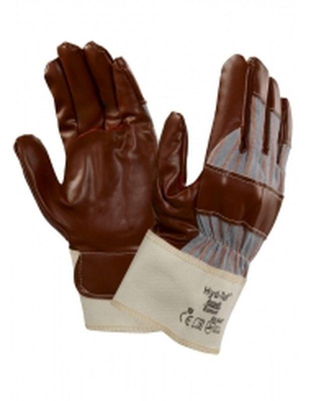ANSELL-Nitril-Mehrzweck-Arbeits-Handschuhe, Hyd-Tuf, Braun