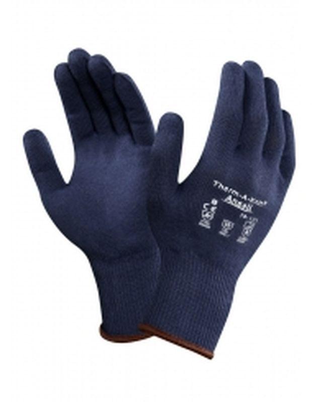 ANSELL-Winter-Wärmeschutz-Strick-Arbeits-Handschuhe, Therm-A-Knit, Blau