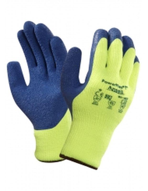 ANSELL-Kälteschutz-Strick-Arbeits-Handschuhe, Powerflex, Hellgelb/