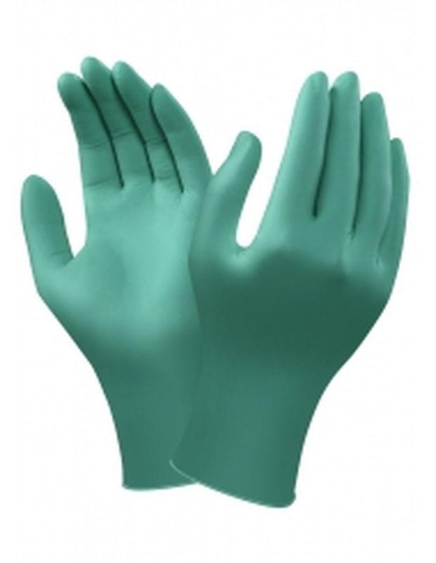 ANSELL-Hand-Schutz, Einmal-Einweg-Nitril-Chemikalienschutz-Einmal-Handschuhe, Touch N Tuff, Pkg á 100 Stück, grün