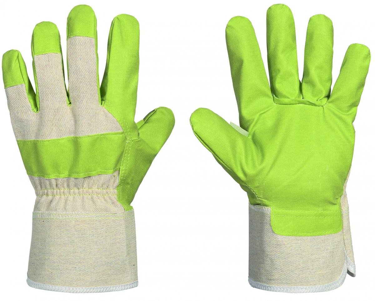 F-Lederhandschuhe, Kunstleder, *Standard KLH * , grün, VE: 120 Paar