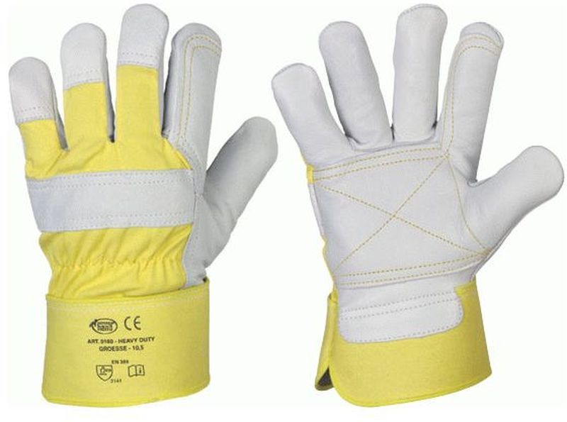 F-STRONGHAND, Rindvoll-Leder-Arbeits-Handschuhe, HEAVY DUTY