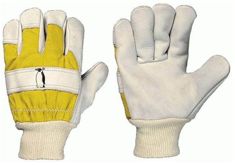 F-STRONGHAND, Rindleder-Winter-Arbeits-Handschuhe, PINGUIN