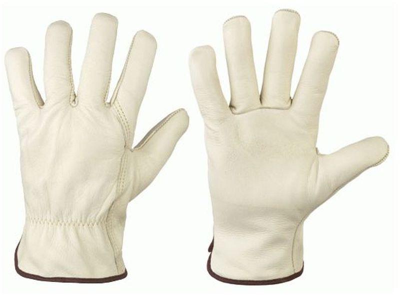 F-SANTA FE, Kunst-Leder-Arbeits-Handschuhe, CAMERON, beige