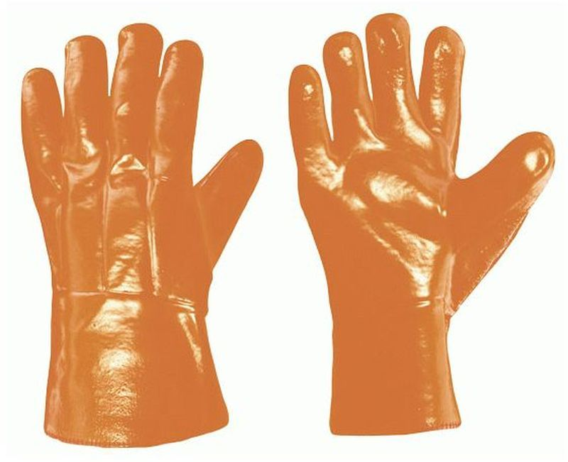 F-STRONGHAND-PVC-Thermo-Winter-Arbeits-Handschuhe, HUSKY, leuchtend orange
