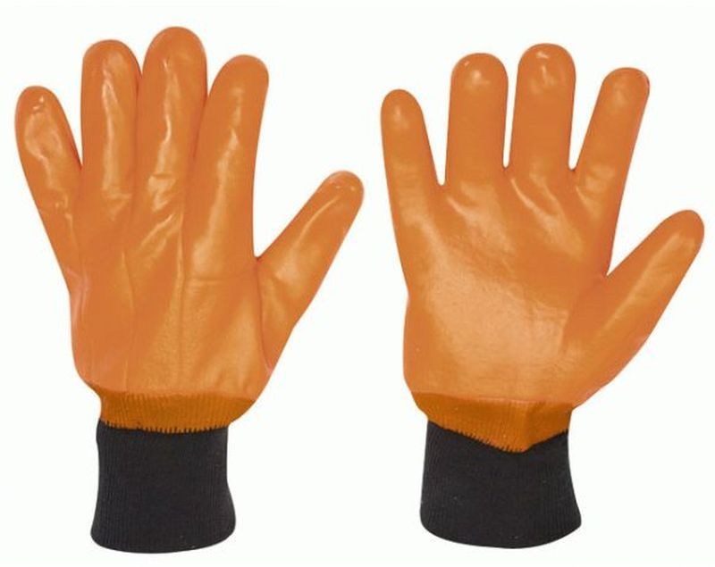 F-STRONGHAND-PVC-Thermo-Winter-Arbeits-Handschuhe, ESKIMO, leuchtend orange