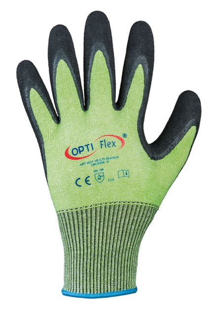 F-OPTIFLEX-Latex-Arbeits-Handschuhe, *MULTI SEASON*, VE: 120 Paar, grün/schwarz