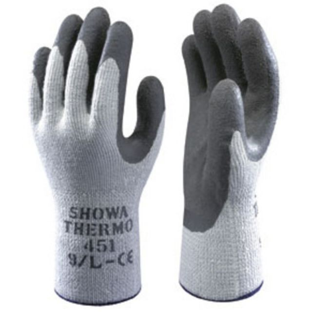 F-SHOWA, Winter-Latex-Arbeits-Handschuhe, SHOWA 451 THERMO, grau