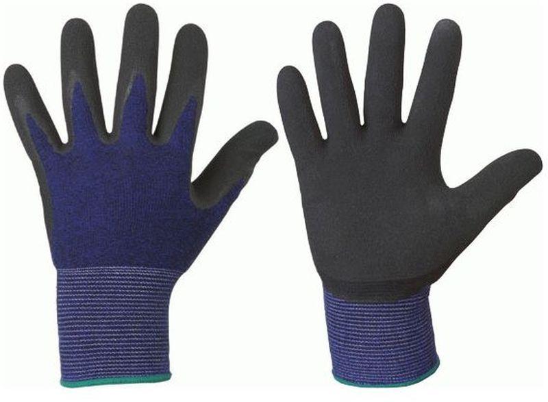 F-STRONGHAND-Feinstrick-Handschuhe, Arbeitshandschuhe, SCOTT, schwarz/blau