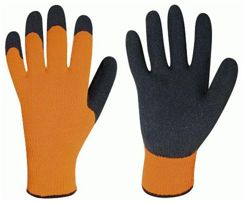 F-STRONGHAND, Strick-Arbeits-Handschuhe, RASMUSSEN, orange/schwarz