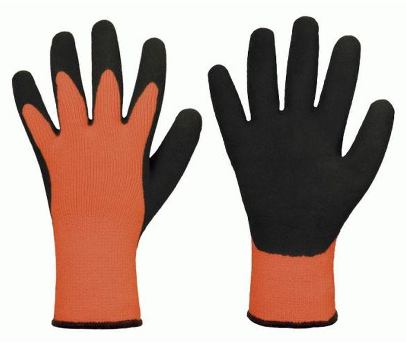 F-STRONGHAND, Strick-Arbeits-Handschuhe, ARVED, orange/schwarz