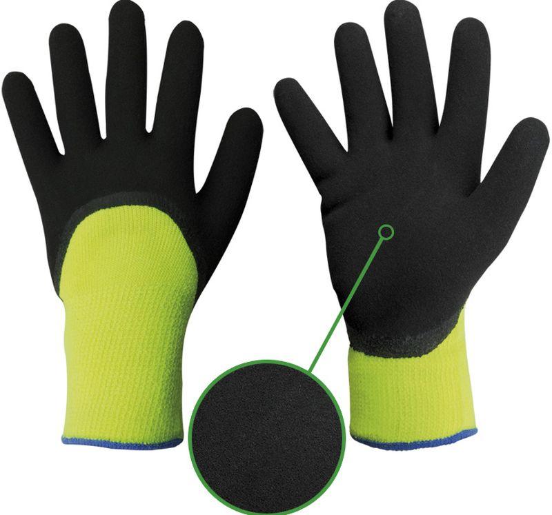 F-STRONGHAND, Strick-Arbeits-Handschuhe, Nansen, schwarz-gelb