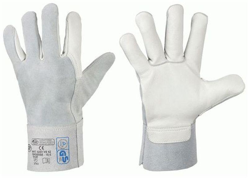 F-STRONGHAND, Leder-Arbeits-Handschuhe, VS 52, grau
