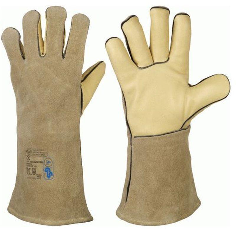 F-STRONGHAND, Schweißer, Rindleder,-Arbeits-Handschuhe, *WELDER-PROFI 4*, VE: 60 Paar