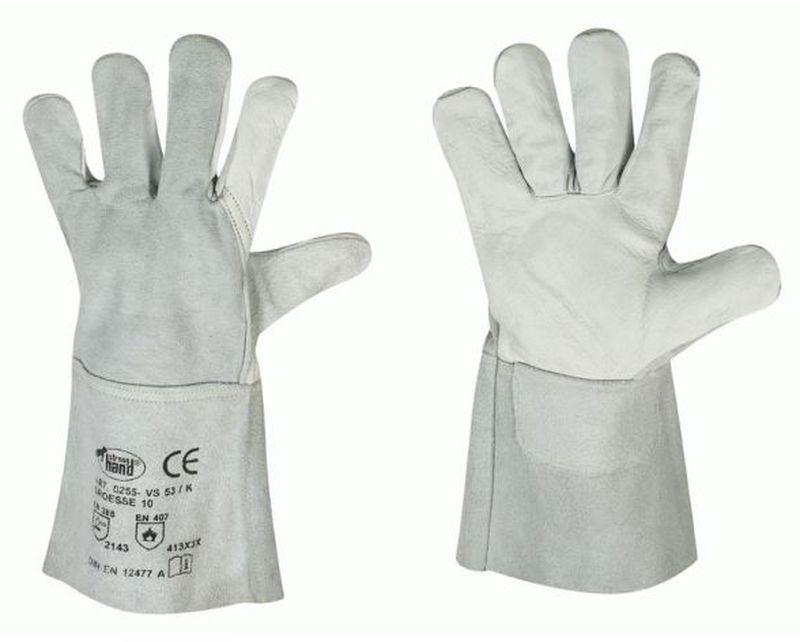 F-STRONGHAND, Schweißer, Rindleder,-Arbeits-Handschuhe, *VS 53/K*, VE: 60 Paar