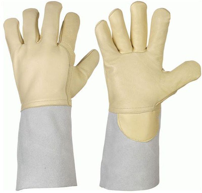 F-STRONGHAND, Argonschweißer, Rindnappaleder/Spaltleder, Arbeits-Handschuhe, (alte Nr.: 0257)*WELDER-STAR-ARGON*, VE: 60 Paar