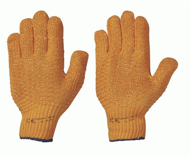 F-STRONGHAND, Strick-Arbeits-Handschuhe, CRISS-CROSS, orange